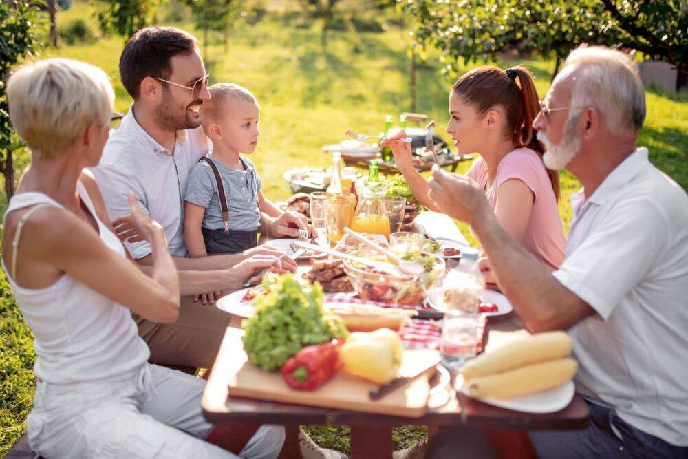 Gezond buiten eten familie